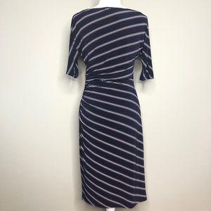 Ralph Lauren Dresses - Ralph Laurel Navy White gross stripe dress